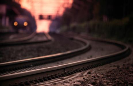 铁路,照片,路径,宏,铁轨,晚上,睡眠者