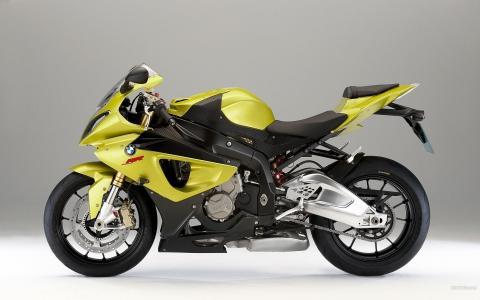 宝马,黄色,摩托车