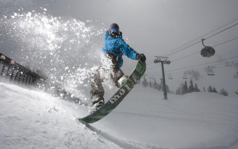 冬天,滑雪胜地,冬季,山,滑雪缆车,滑雪板,运动,极端,放松,积极
