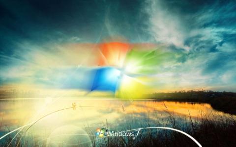 Windows 7,Windows,Windows,Photoshop,工作,自然,天空,日落