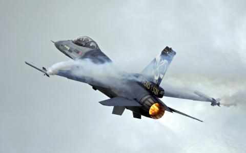 飞机,比利时F-16,力量,起飞,速度,英俊