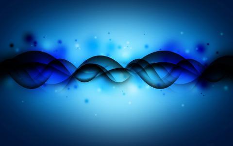 抽象,线条,雾,蓝色
