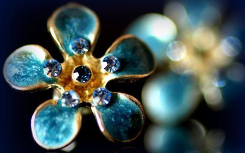 戒指,海蓝宝石,蓝色,蓝色,宝石