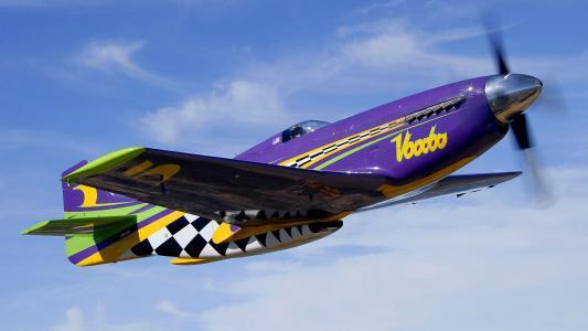 飞机,战斗机,天空,云,螺旋桨,飞行,复古