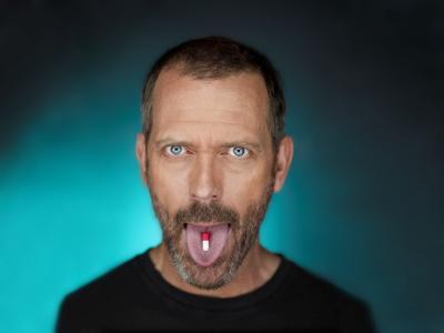 House m.d.,一种语言的平板电脑,休·劳瑞,面霜,蓝色的眼睛,情感,表现力