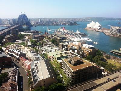 澳大利亚,悉尼,城市,海湾,全景