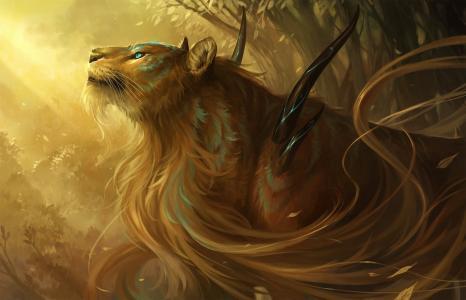 蓝,桑塔拉,荆棘,眼睛,eva逝之神,狮子