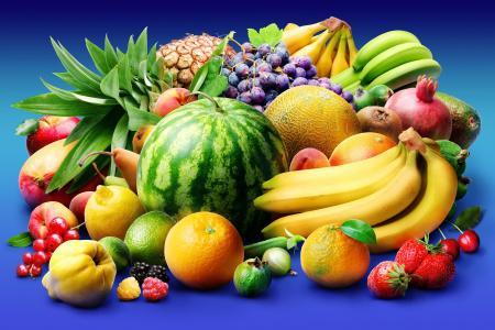 水果,西瓜,菠萝,香蕉,橙,甜瓜,葡萄,草莓