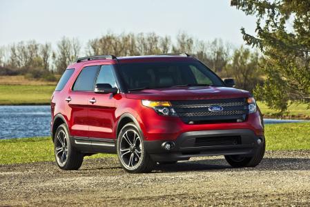 福特,2013年,探险家,运动,红色,吉普车,福特