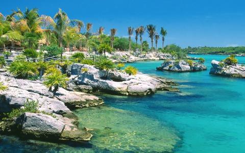 热带,群岛,美丽,泻湖,海