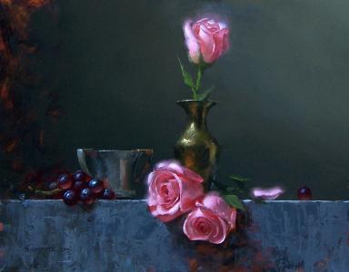 玫瑰,大卫cheifetz,静物,图片