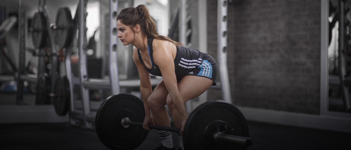 女孩,健身,酒吧,培训