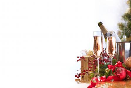 眼镜,礼物,浆果,饮料,斗,香槟