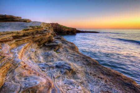 """海岸,海,石头,人类发展报告"""",地平线,加利福尼亚州,圣地亚哥,性质"""