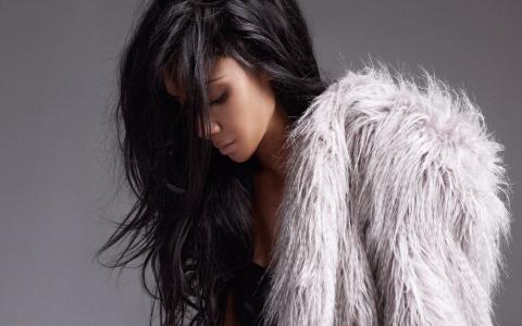 女孩,模型,构成,美丽,外套
